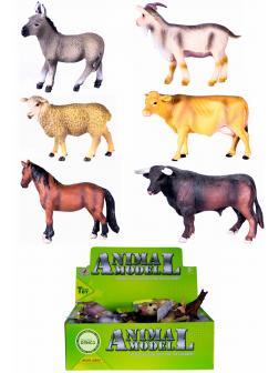 Фигурки животных «Домашние животные с фермы» Q9899-218 Animal Model 10-12 см. / 6 шт.