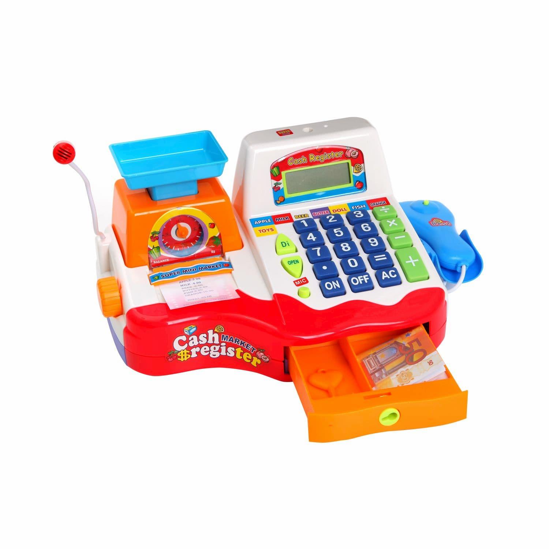 Игровой набор Кассовый аппарат Play Smart «Мой магазин» 7256 со звуком, 20 аксессуаров