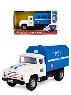 Грузовик инерционный Play Smart 1:34 «ЗИЛ-130 Фургон Полиция» 21 см 9710-B Автопарк, свет и звук