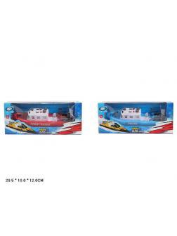 Игрушечный Катер «Береговая Охрана» и «Полиция» на батарейках 3803B / Микс