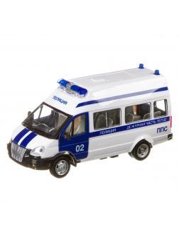 Инерционная машинка Play Smart 1:29 «ГАЗ-27057 Полиция» 19 см. 9707-E Автопарк, свет и звук