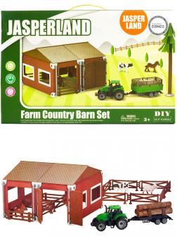Игровой набор техники с ангаром «Ферма» Jasper Land 5279-33