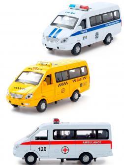 Машинка металлическая Wanbao «ГАЗель: Спецслужбы» 673-С инерционная, свет, звук в коробке / Микс