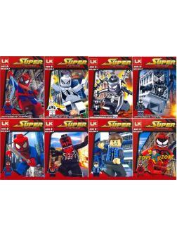 Конструктор Super Heroes «Фигурки Spider-Man» 266-F / 8 шт.