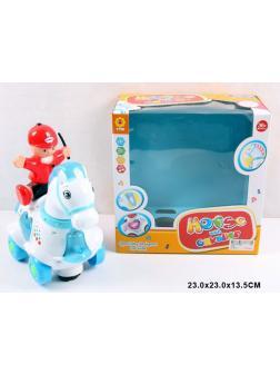 Интерактивная игрушка «Лошадка с кавалером» 0328 / со светом и звуком, на батарейках