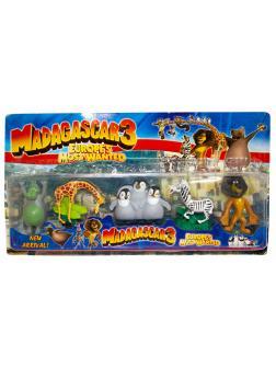 Набор игровых фигурок «Мадагаскар - 3» 8214 / 5 шт.