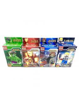 Конструктор Doll «Фигурки героев» H001-H008 (Super Heroes) 8 шт.