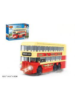 Конструктор COGO «Двухэтажный автобус» 4182 / 112 деталей