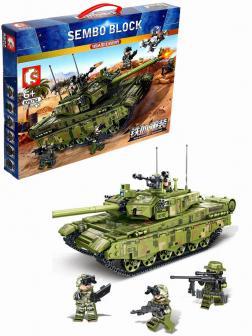 Конструктор Sembo Block «Основной боевой танк Тип 99А» 105751 / 1144 деталей
