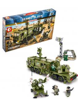 Конструктор Sembo Block «Передвижная система ПВО» 105780 / 1196 деталей