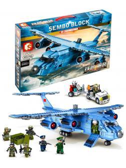 Конструктор Sembo Block «Военно-транспортный самолет Юнь-20» 105766 Iron Blood Heavy Equipment / 1083 детали