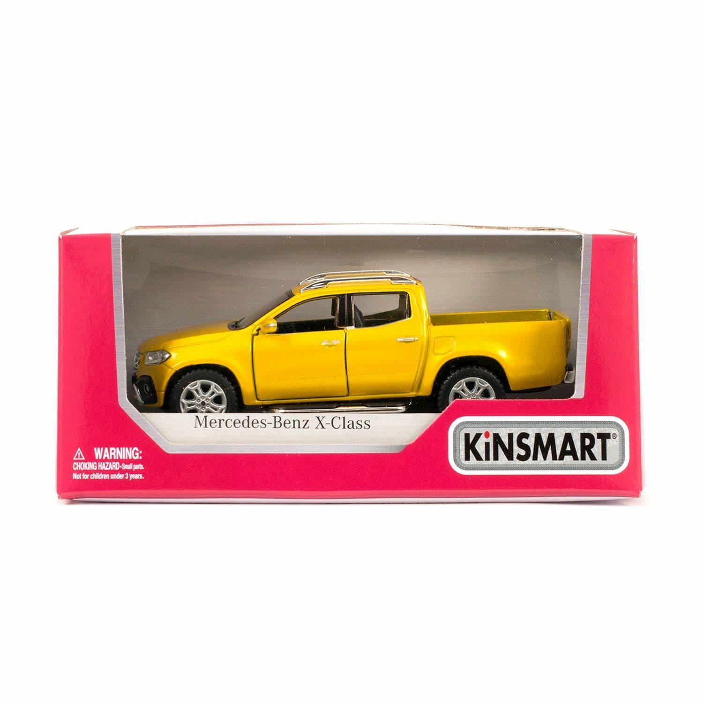 Металлическая машинка Kinsmart 1:42 «Mercedes-Benz X-Class» KT5410W, инерционная в коробке / Микс