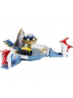 Игровой Набор Hot Wheels Monster Trucks «Столкновение с механической акулой» FYK14