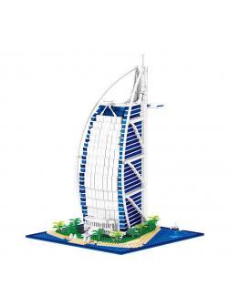 Конструктор ZHE GAO «Отель Парус в Дубае Бурдж-эль-Араб» QL0963 / 2798 деталей
