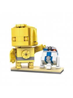 Конструктор Loz «Star Wars: Дроиды C-3PO & R2-D2» 1501 / 211 деталей
