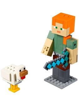 Конструктор Bl «Алекс с цыплёнком» 11167 (Minecraft 21149) 160 деталей