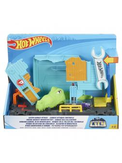 Игровой Набор Hot Wheels Сити «Атака крокодила в гараже» FNB06