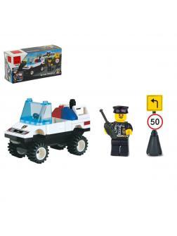 Конструктор BRICK Enlighten «Полицейский с автомобилем» 124 / 39 деталей