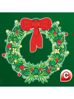 Конструктор 4 в 1 «Рождественский венок» 00426 (40426) 544 детали