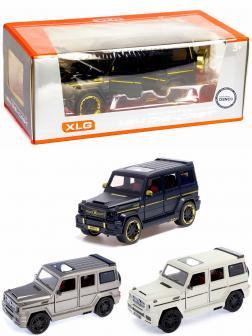 Машинка металлическая XLG 1:24 «Mercedes-Benz G-class Brabus» M929Y-1 20 см. инерционная, свет, звук в коробке / Микс