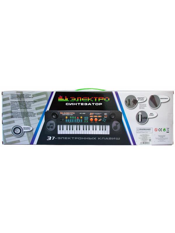 Детский синтезатор Play Smart с микрофоном, 37 клавиш, 0888