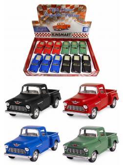 Металлическая машинка Kinsmart 1:32 «1955 Chevy Stepside Pick-up (Матовый)» KT5330MD, инерционная / Микс