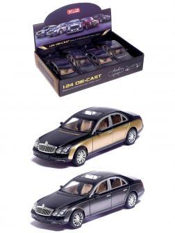 Машинка металлическая XLG 1:24 «Maybach 62s» M929H 20 см. инерционная, свет, звук / Микс