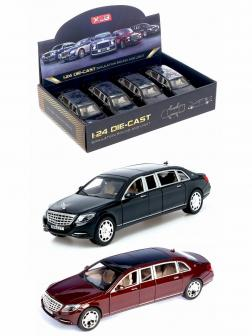 Машинка металлическая XLG 1:24 «Mercedes-Maybach S600 Pullman» M923T 20 см. инерционная, свет, звук / Микс