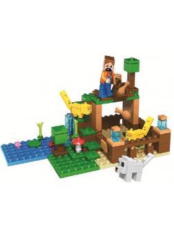 Конструктор Lari «Оцелоты» 10953 (Minecraft) 122 детали