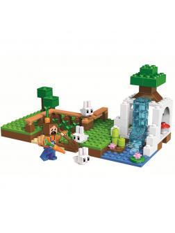 Конструктор Lari «Жизнь на деревенской ферме» 10952 (Minecraft) 124 детали