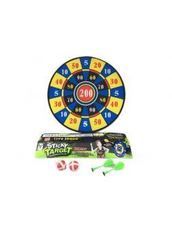 Игровой набор Дартс «Sticky Target» с 2 мячами и 2 дротиками ТКС024