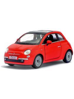 Металлическая машинка Kinsmart 1:28 «2007 Fiat 500» KT5345D, инерционная / Красный