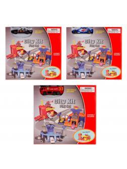 Детский игровой набор City Kit «Полицейский участок/ пожарная часть/ автосервис» 1 машина 2065PT / Микс