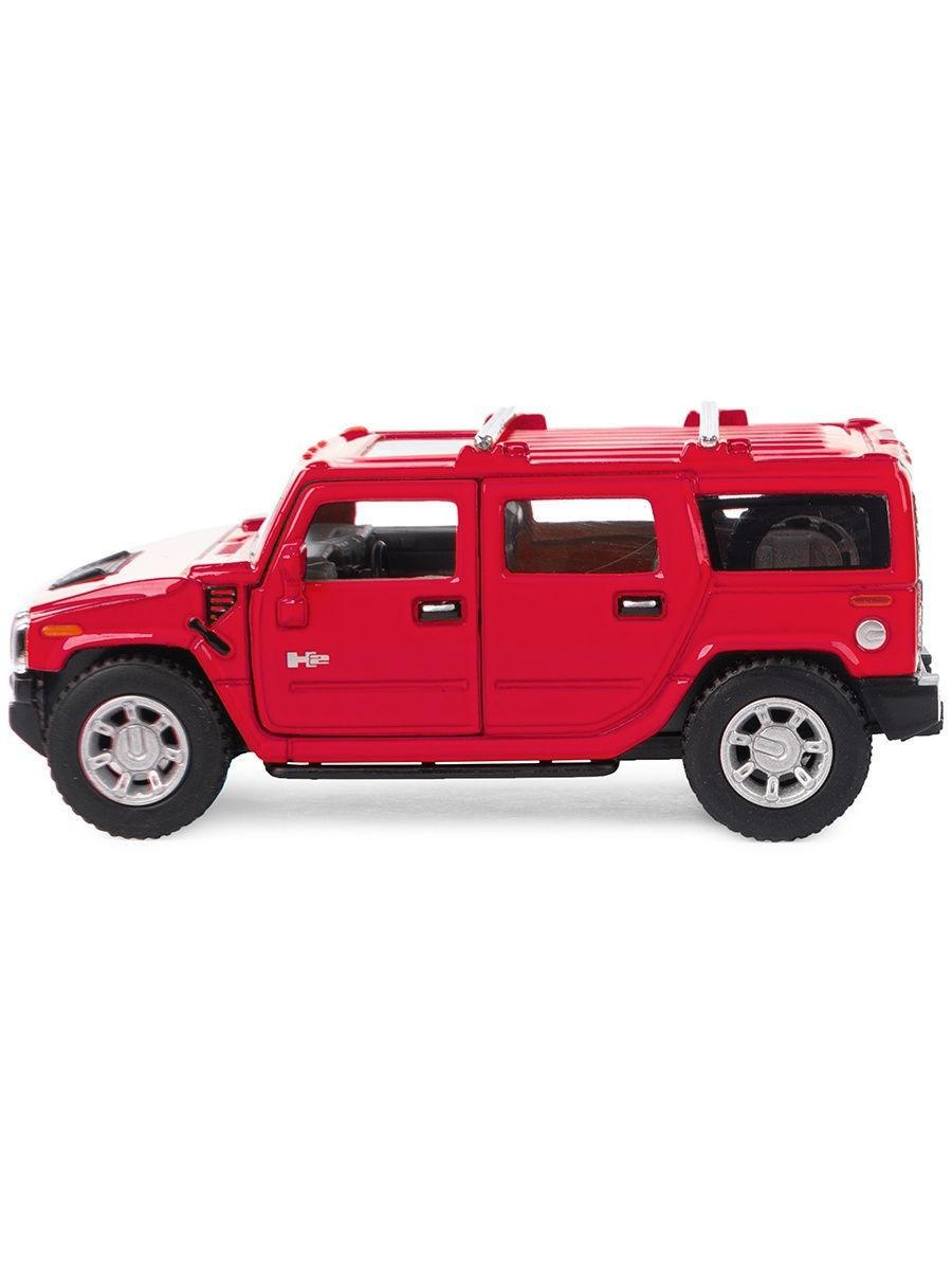 Металлическая машинка Kinsmart 1:40 «2008 Hummer H2 SUV» KT5337W инерционная в коробке / Микс