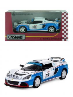 Металлическая машинка Kinsmart 1:32 «2012 Lotus Exige R-GT» KT5362W инерционная в коробке