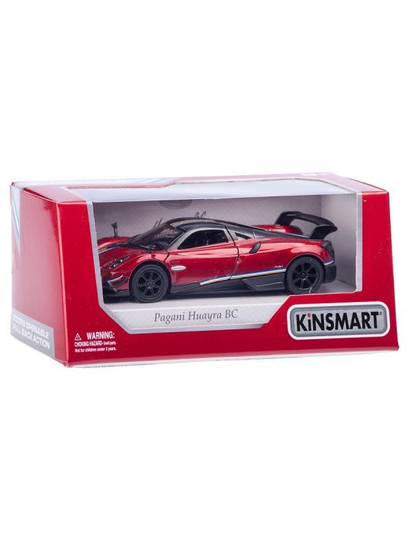 Металлическая машинка Kinsmart 1:38 «2016 Pagani Huayra BC с принтом» KT5400WF, инерционная в коробке / Микс