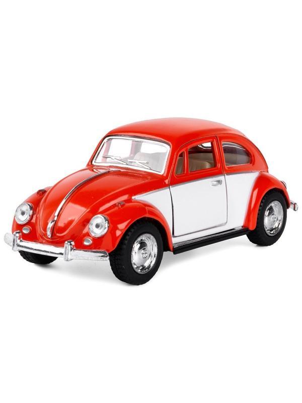 Металлическая машинка Kinsmart 1:32 «1967 Volkswagen Classical Beetle (Color Door)» KT5373D инерционная / Микс