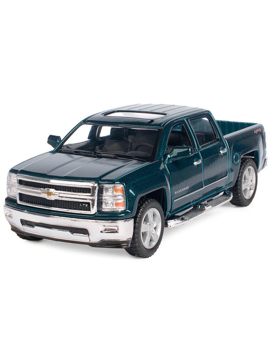 Машинка металлическая Kinsmart 1:46 «2014 Chevrolet Silverado» KT5381D инерционная / Микс
