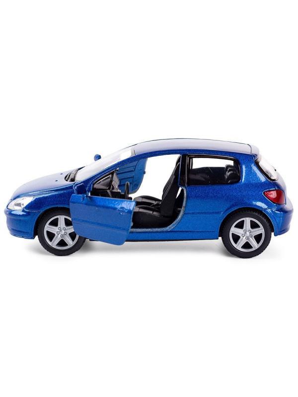 Металлическая машинка Kinsmart 1:32 «2001 Peugeot 307 XSI» KT5079W, инерционная в коробке / Микс