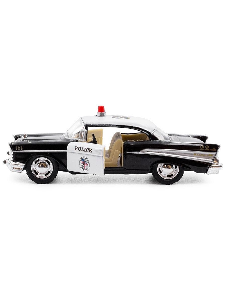 Металлическая машинка Kinsmart 1:40 «1957 Chevrolet Bel Air (Police)» KT5323D, инерционная