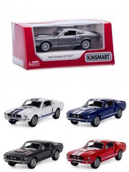 Металлическая машинка Kinsmart 1:44 «1967 Shelby GT500» KT5372W инерционный в коробке / Микс