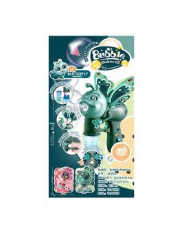 Пистолет с мыльными пузырями Bubble Fashion Joy «Бабочка» свет и звук / DF-6061