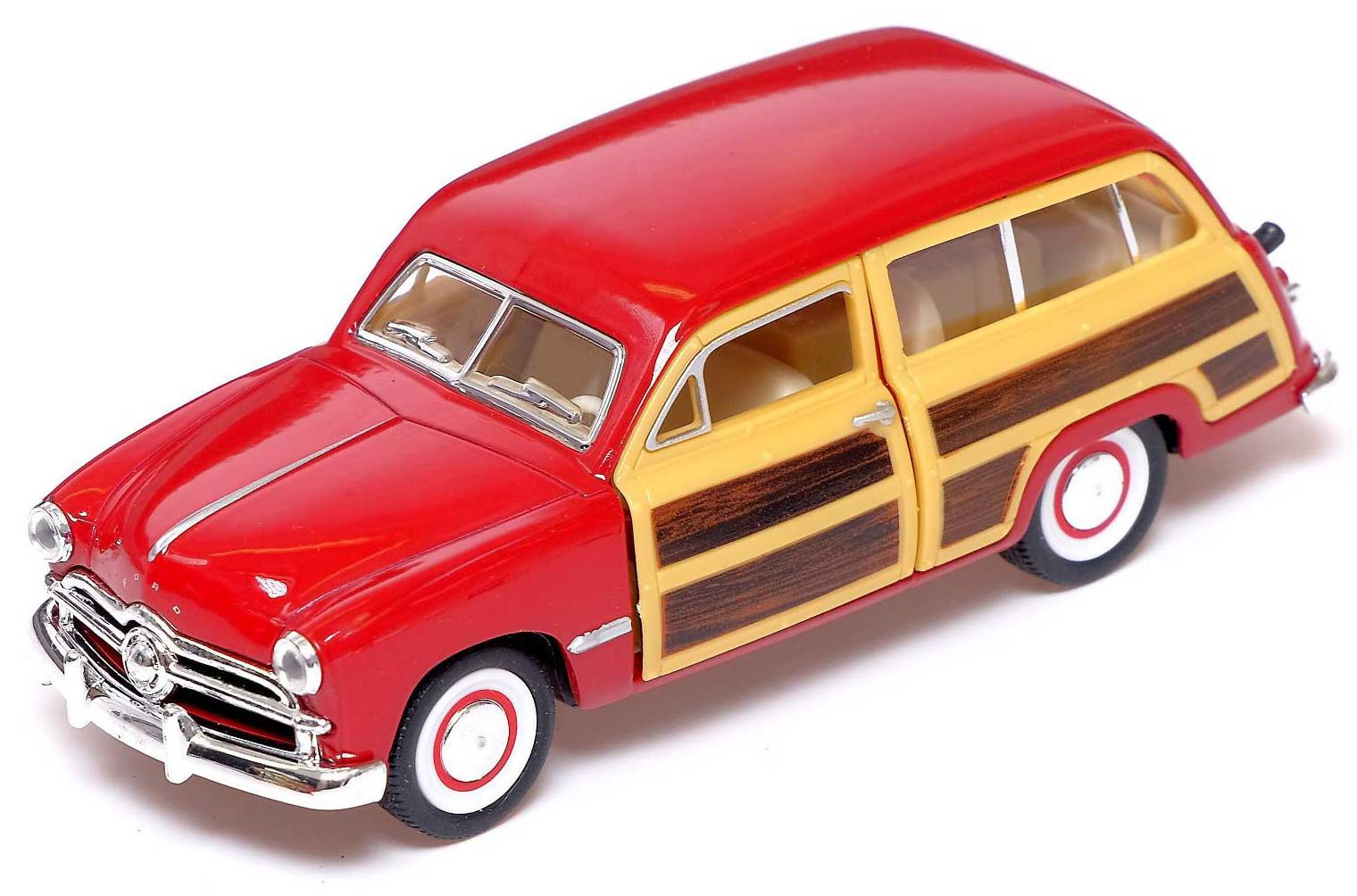 Машинка металлическая Kinsmart 1:40 «1949 Ford Woody Wagon» KT5402D инерционная / Микс