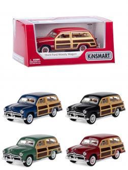 Машинка металлическая Kinsmart 1:40 «1949 Ford Woody Wagon» KT5402W инерционная в коробке / Микс