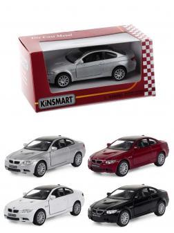 Металлическая машинка Kinsmart 1:36 «BMW M3 Coupe» KT5348W, инерционная в коробке / Микс