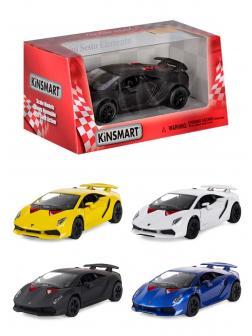 Машинка металлическая Kinsmart 1:38 «Lamborghini Sesto Elemento» KT5359W инерционная / Микс