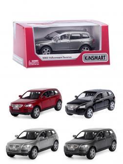 Металлическая машинка Kinsmart 1:38 «2003 Volkswagen Touareg» KT5078W, инерционная в коробке / Микс