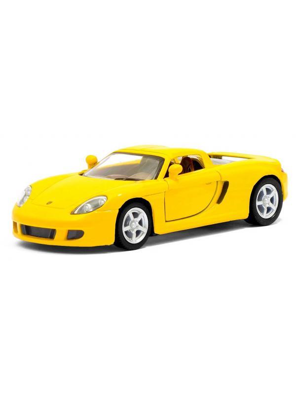 Металлическая машинка Kinsmart 1:36 «Porsche Carrera GT» KT5081D, инерционная / Микс