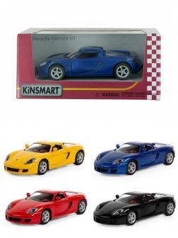 Металлическая машинка Kinsmart 1:36 «Porsche Carrera GT» KT5081W, инерционная в коробке / Микс