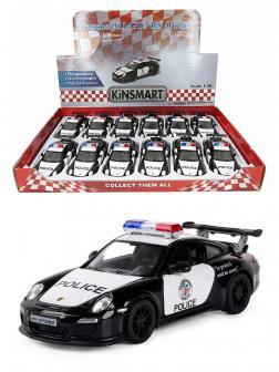 Металлическая машинка Kinsmart 1:36 «2010 Porsche 911 GT3 RS (Police)» KT5352DP, инерционная
